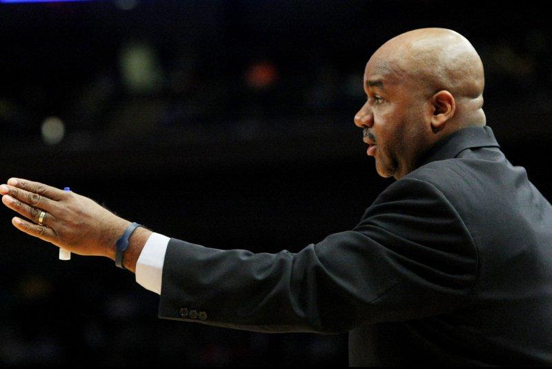Georgetown's head coach John Thompson. UPI/Monika Graff