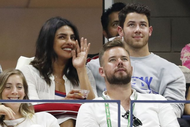 Priyanka Chopra (L), pictured with Nick Jonas, File Photo by John Angelillo/UPI