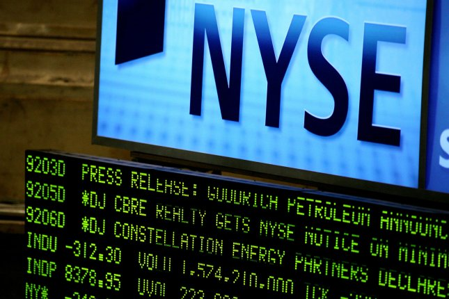 U.S. markets closed up slightly on Monday as tech stocks soared to offset a decrease in airline stocks after Warren Buffett announced he sold off his shares in the industry. File Photo by Monika Graff/UPI