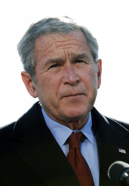 U.S. President George W. Bush speaks about the terrorist attacks on Mumbai, India after arriving at the White House from Camp David, in Washington on November 29, 2008. (UPI Photo/Alexis C. Glenn)