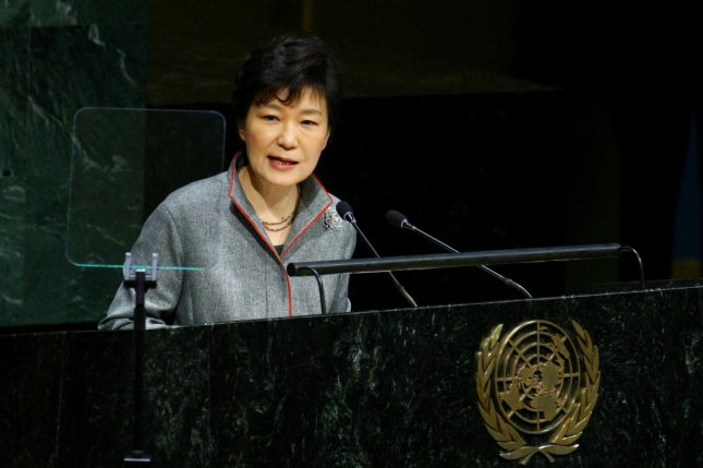 Park Geun-hye, president of South Korea, addressed the 69th session of the United Nations General Assembly in New York City last September. Park has said Korean unification is a matter of historical inevitability and has relaxed some restrictions on North-South exchange. UPI /Monika Graff