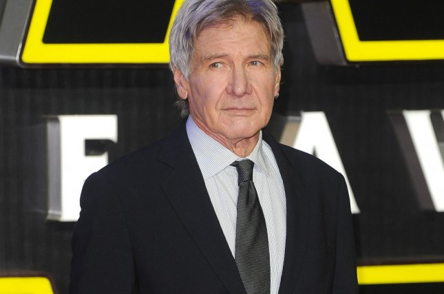 "American actor Harrison Ford attends the European premiere of ""Star Wars: The Force Awakens"" at Empire Leicester Square in London on December 16, 2015. Photo by Paul Treadway/ UPI"