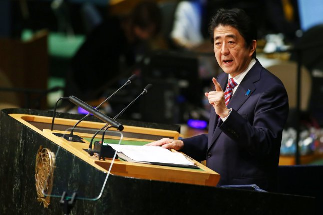 Since Japanese Prime Minister Shinzo Abe assumed office in late 2012, Tokyo has been pressuring Japan's press corps to avoid criticism of the government, a U.N. special rapporteur said Tuesday. File Photo by Monika Graff/UPI