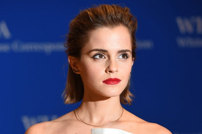 Emma Watson arrives on the red carpet prior to the White House Correspondents Association Dinner on April 30. Watson brings Belle to life alongside Dan Stevens as The Beast in the last trailer for Disney's live-action adaptation of Beauty and the Beast. FIle Photo by Molly Riley/UPI