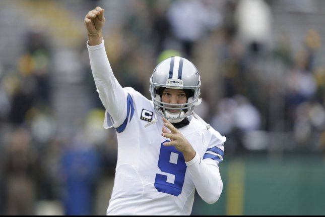 Dallas Cowboys quarterback Tony Romo at Lambeau Field before the Dallas Cowboys and Green Bay Packers NFC divisional playoff game at Lambeau Field on January 11, 2015 in Green Bay, Wisconsin. Photo by Jeffrey Phelps/UPI