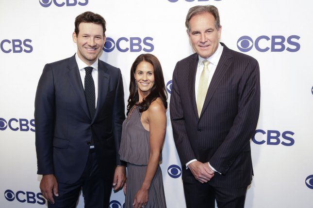 Former Dallas Cowboys quarterback Tony Romo (L) has yet to make a cut in three PGA Tour appearances. He will not be in the broadcast booth Sunday for CBS if he makes the cut at the 2019 Safeway Open. File Photo by John Angelillo/UPI