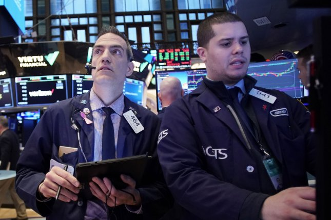 The Dow Jones fell 785 points Tuesday as markets plunged despite an effort by the Federal Reserve to cut rates to ease concerns about COVID-19's effect on the economy. Photo by John Angelillo/UPI