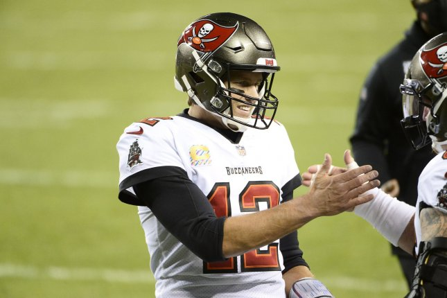 Tampa Bay Buccaneers quarterback Tom Brady and the Bucs will travel to play Aaron Rodgers and the Green Bay Packers next week at Lambeau Field in Wisconsin. File Photo by Brian Kersey/UPI