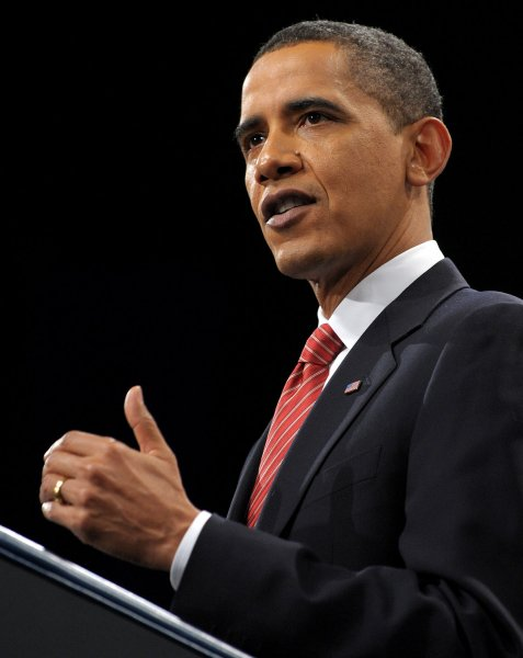 U.S. President Barack Obama speaks about his decision to increase U.S. troop levels in Afghanistan by about 30,000 during a speech at the U.S. Military Academy at West Point, New York, on December 1, 2009. The buildup is targeted to reverse the Taliban advances in the country and to train Afghan soldiers and police. UPI/Roger L. Wollenberg