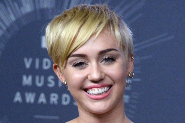 Miley Cyrus accused Justin Bieber of stealing her bleach blonde look. Photo by Jim Ruymen/UPI
