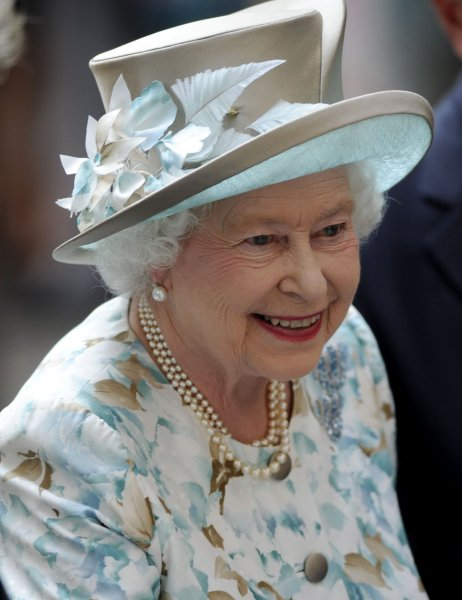 Queen Elizabeth II meets guests at the British Garden at Hanover Square in New York, Tuesday, July 6, 2010. The Queen was recently photographed by Annie Leibovitz in honor of her 90th birthday. File Photo by Henny Ray Abrams/UPI