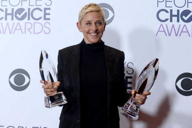 Ellen DeGeneres at the People's Choice Awards on January 6. File Photo by Jim Ruymen/UPI