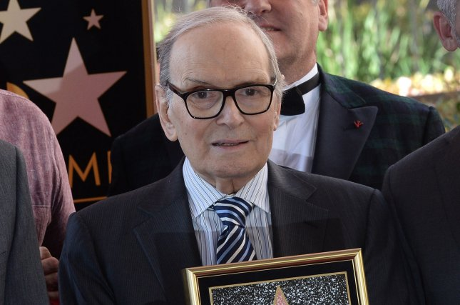 Ennio Morricone, a composer who scored films such as The Hateful Eight, has died at age 91. File Photo by Jim Ruymen/UPI