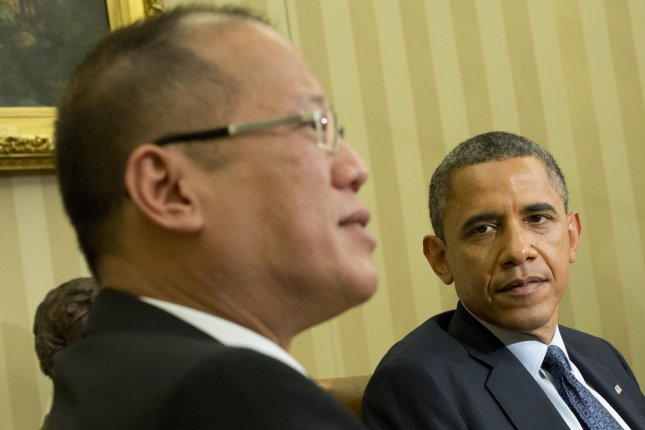President Barack Obama meets with President Benigno Aquino of the Philippines in the Oval Office at the White House in Washington, DC on June 8, 2012. UPI/Kevin Dietsch