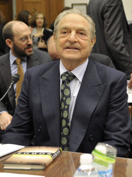 Hedge fund manager George Soros, chairman of Soros Fund Management LLC, arrives at the House Oversight and Government Reform Committee hearing on the regulation of hedge funds on Capitol Hill in Washington on November 13, 2008. (UPI Photo/Yuri Gripas)