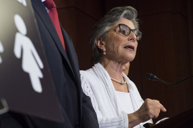 Sen. Barbara Boxer, D-Calif., speaks at a news conference in Washington, D.C., on Aug. 3 outlining the health benefits of Planned Parenthood prior to a Senate vote on funding legislation for the organization. Thursday, Boxer was among a group of Senate Democrats who are pushing for stronger gun control legislation. File Photo by Kevin Dietsch/UPI