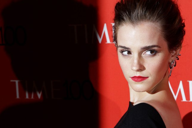 Emma Watson, seen here on the red carpet at the TIME 100 Gala in April, appeared in Vogue Italia this week. File Photo by John Angelillo/UPI