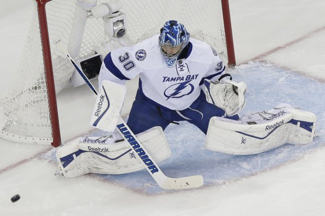 newest collection aa719 f165a Tampa Bay Lightning G Ben Bishop day-to-day after leaving on ...