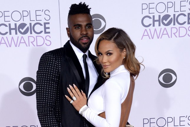 Jason Derulo and actress Daphne Joy arrive for the 42nd annual People's Choice Awards on January 6, 2016. The couple have split after six months of dating. File Photo by Jim Ruymen/UPI