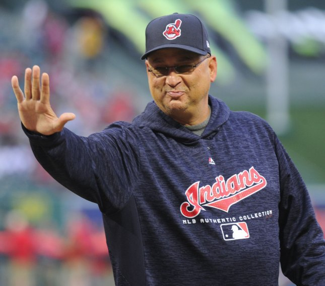 Manager Terry Francona leads his Cleveland Indians against the Detroit Tigers on Friday. Photo by Lori Shepler/UPI.