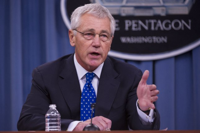 Defense Secretary Chuck Hagel speaks during a press briefing at the Pentagon in Arlington, Virginia on September 18, 2013. (UPI/Kevin Dietsch)