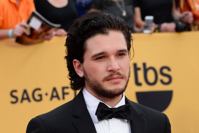 Actor Kit Harington arrives for the 21st annual SAG Awards held at the Shrine Auditorium in Los Angeles on January 25, 2015. The Screen Actors Guild Awards will be broadcast live on TNT and TBS. File Photo by Jim Ruymen/UPI