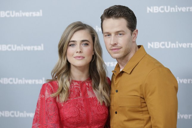 The stars of Manifest, Melissa Roxburgh (L) and Josh Dallas, arrive on the red carpet at the 2018 NBCUniversal Upfront on May 14 in New York City. File Photo by John Angelillo/UPI
