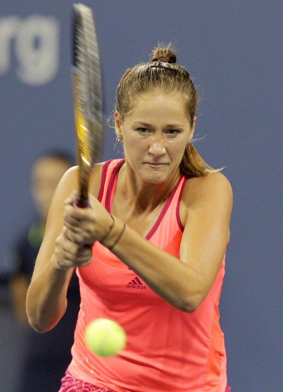 Bojana Jovanovski, shown in a 2011 file photo, had a second-round win Tuesday at the Hobart International tennis tournament. UPI/John Angelillo
