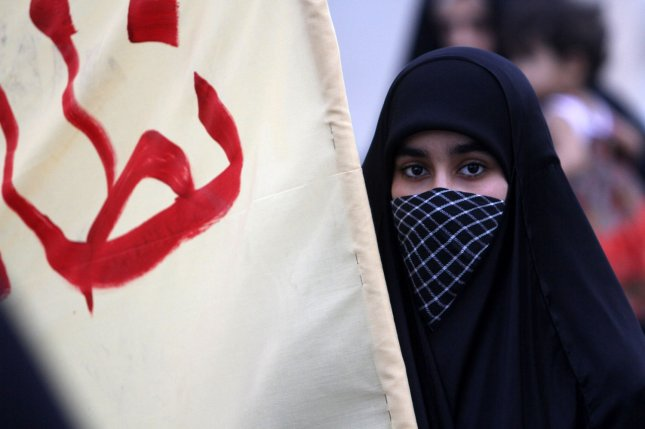 A Bahraini woman participates in an anti-government protest, in Diraz, Bahrain, west of the capital of Manama in April 21, 2012. Photo by Khaled Jawhar/FILE/UPI