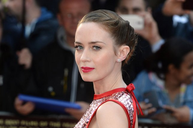 English actress Emily Blunt attends the UK Premiere of Sicario at Empire Leicester Square in London on September 21, 2015. Blunt is currently in talks to star in Disney's upcoming Mary Poppins sequel. File Photo by Paul Treadway/UPI