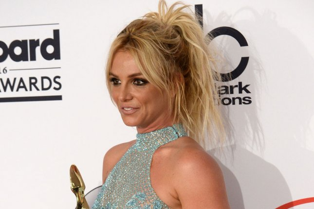 Britney Spears at the Billboard Music Awards on May 22. The singer will release her album Glory on Aug. 22. File Photo by Jim Ruymen/UPI
