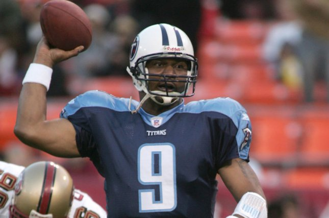 Former Tennessee Titans quarterback Steve McNair was found shot dead in his girlfriend's Nashville condominium in 2009. File Photo by Terry Schmitt/UPI