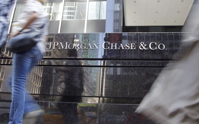 Two current and one former J.P. Morgan Chase traders were charged with conspiracy for allegedly manipulating precious medals markets. File Photo by John Angelillo/UPI
