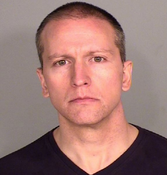 Former Minneapolis police Officer Derek Chauvin's booking photo is shown. He has since been freed on bail and will be tried together with other former officers in the death of George Floyd. File Photo courtesy Ramsey County Sheriff's Office/UPI