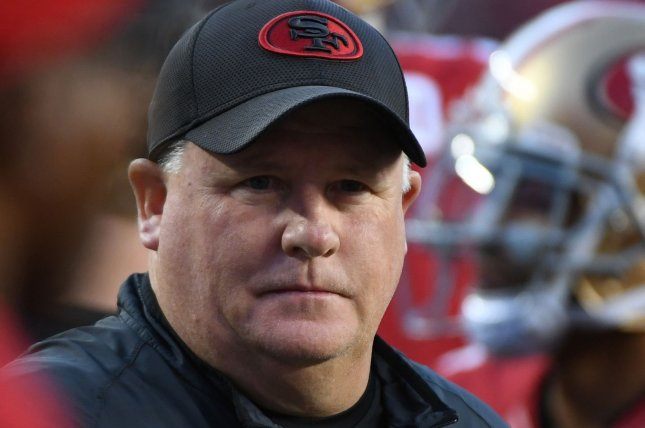 San Francisco 49ers Head Coach Chip Kelly had 14 days to figure out what's wrong with his offense, but came up empty. Photo by Terry Schmitt/UPI