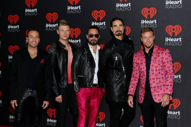 The Backstreet Boys, seen here, will be presenters at the 2018 CMT Music Awards alongside Chrissy Metz and Hoda Kotb. File Photo by James Atoa/UPI