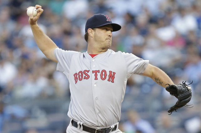 Boston Red Sox starting pitcher Steven Wright. File photo by John Angelillo/UPI