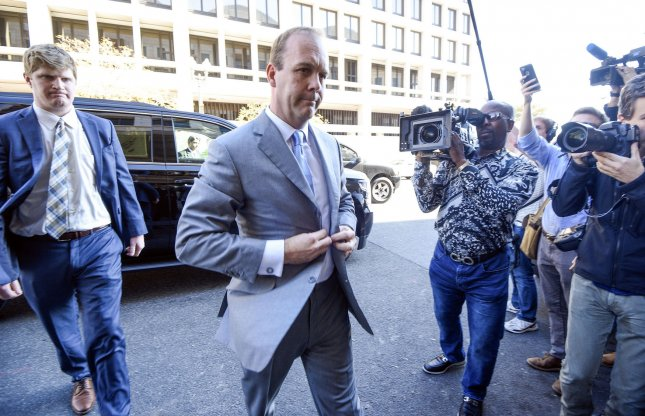Rick Gates concluded his testimony against his former business associate, Paul Manafort, on Wednesday. File Photo by Leigh Vogel/UPI