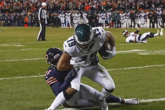 Former Philadelphia Eagles wide receiver Golden Tate is entering his first season with the New York Giants. File Photo by Kamil Krzaczynski/UPI