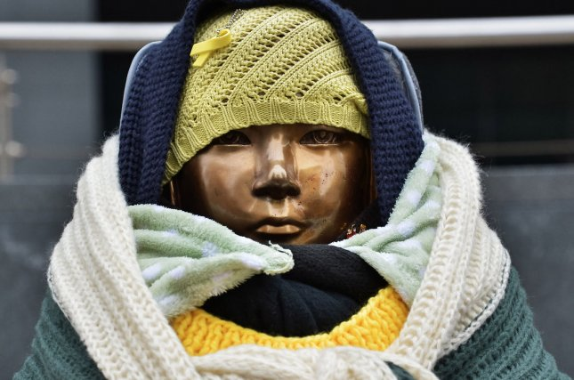 Comfort women statues have emerged as a source of controversy between South Korea and Japan. A new statue was veiled last month in Berlin, Germany. File Photo by Keizo Mori/UPI