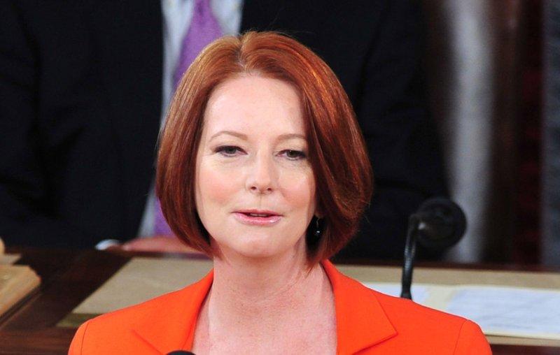 Prime Minister Julia Gillard of Australia. UPI/Kevin Dietsch