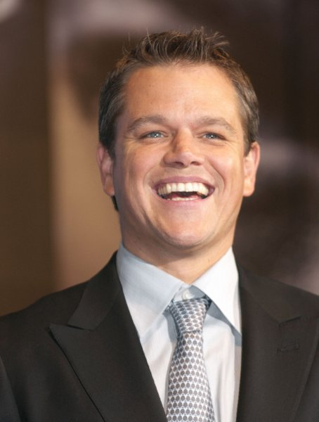 American actor Matt Damon was all smiles during the red carpet ceremony of Japan premiere for his new film The Bourne Ultimatum in Tokyo, Japan, on October 18, 2007. In the film he acts as a notorious trained killer Jason Bourne. (UPI Photo/Keizo Mori)