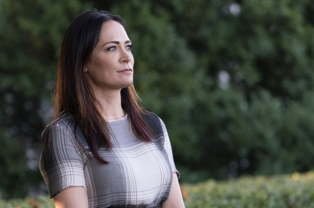 Stephanie Grisham will replace Sarah Sanders and Bill Shine as White House press secretary and communications director. Photo by Chris Kleponis/UPI