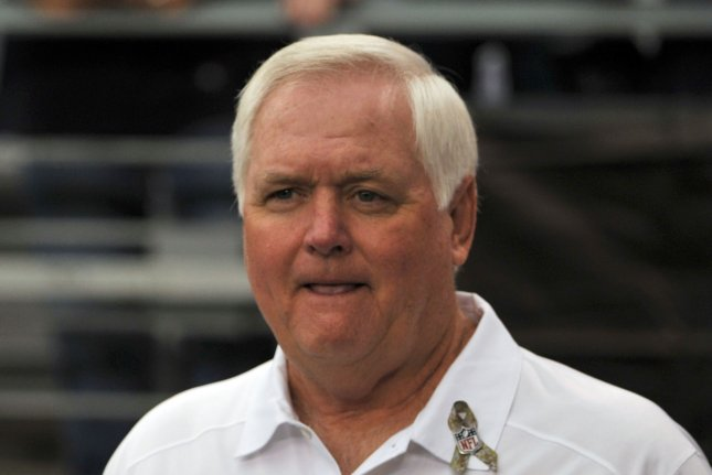 Former Los Angeles Rams defensive coordinator Wade Phillips originally signed a three-year contract with the Rams after head coach Sean McVay was hired in 2017. File Photo by Art Foxall/UPI
