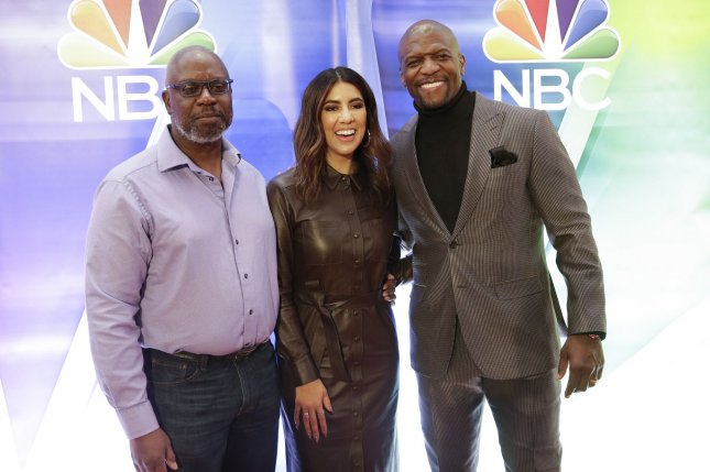Andre Braugher, Stephanie Beatriz and Terry Crews star on the NBC series Brooklyn Nine-Nine. File Photo by John Angelillo/UPI