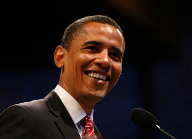Democratic presidential hopeful Sen. Barack Obama a on June 15, 2008. (UPI Photo/Brian Kersey)