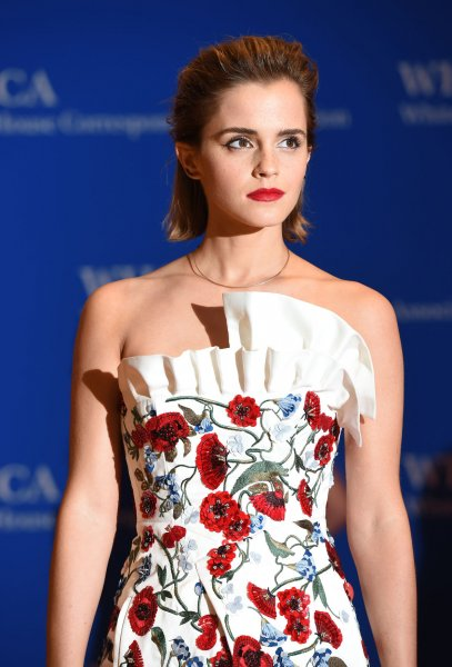 Emma Watson arrives on the red carpet prior to the White House Correspondents Association Dinner at the Washington Hilton in Washington, DC, April 30, 2016. Fans got a closer look at Watson as Belle in a sneak peak trailer for Disney's upcoming Beauty and the Beast remake. File Photo by Molly Riley/UPI