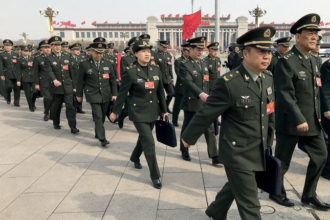 The Chinese military is growing rapidly to counter U.S. superiority, a new report from the Pentagon said. File Photo by Stephen Shaver/UPI