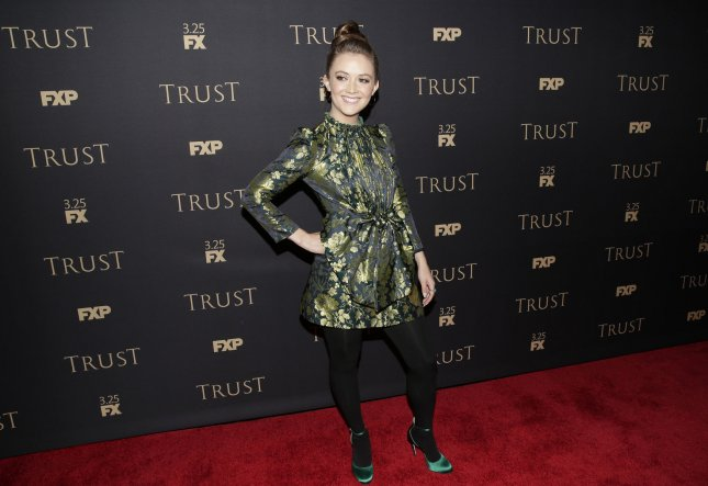 Actress Billie Lourd is to guest star in the final season of Will & Grace. File Photo by John Angelillo/UPI