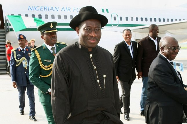 Nigerian President Goodluck Ebele Jonathan at Toronto International Airport, June 24, 2010. Jonathan had urged postponement of February 2015 presidential elections in Nigeria due to the threat of Boko Haram. On February 7, 2014, the elections were officially rescheduled for March 28. File photo by Dave Chan/UPI